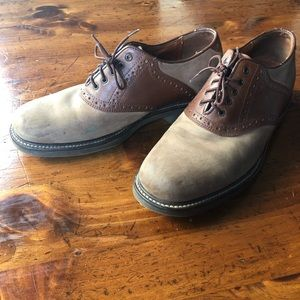 Johnston and Murphy Brown on Tan Saddle Shoes 8.5